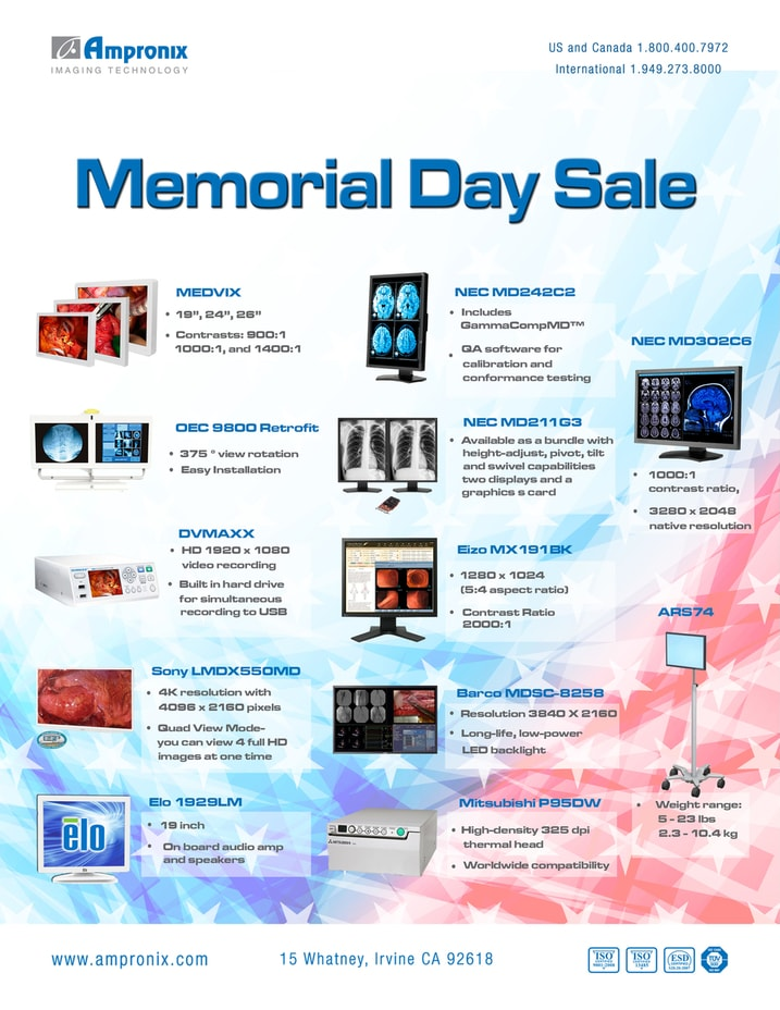 Ampronix Memorial Day Sale