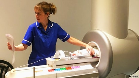 GE Healthcare has developed an MRI machine small enough to fit into NICU units.