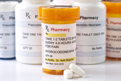 Common chronic wound treatment with opioids