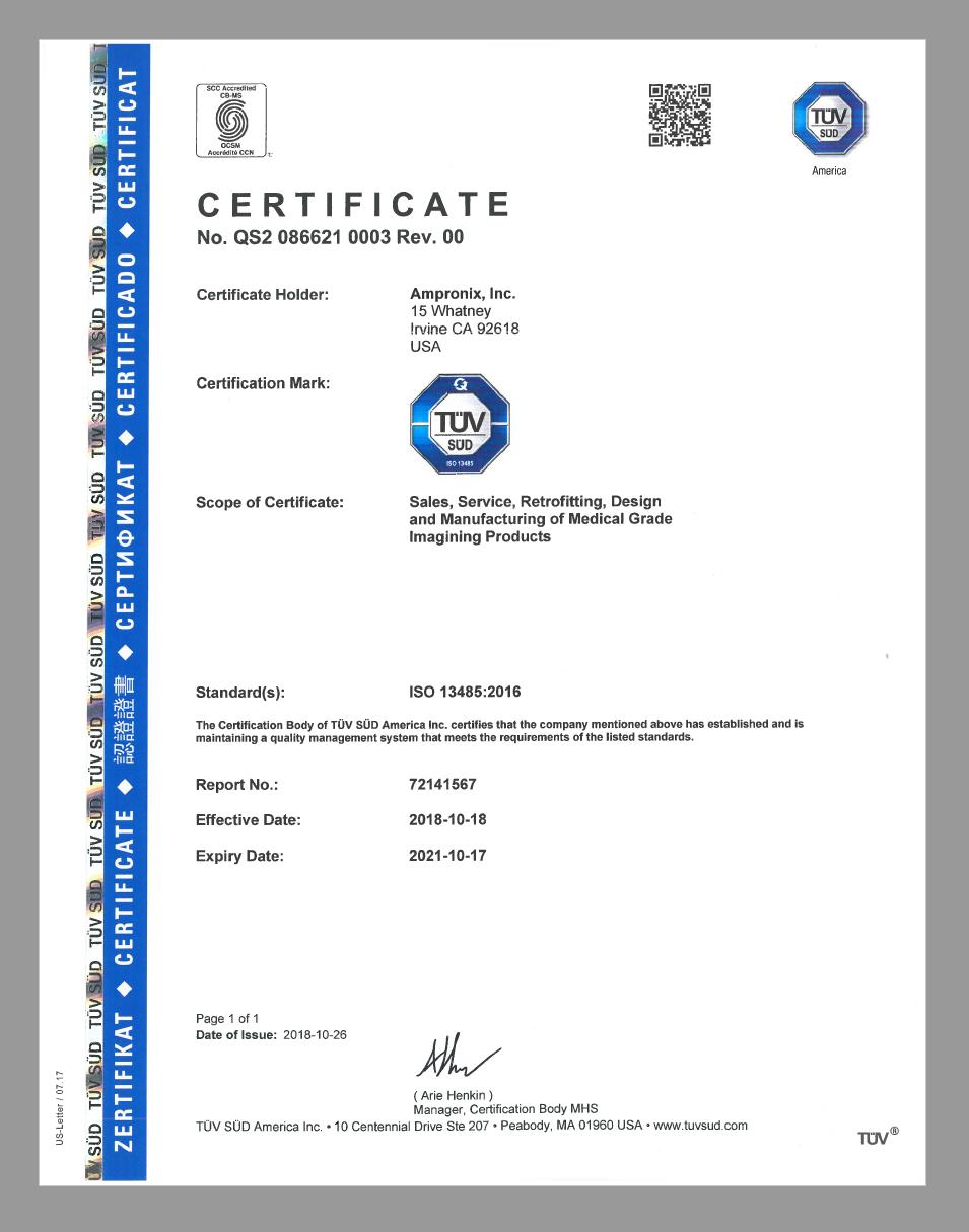 ISO 13485 Ampronix