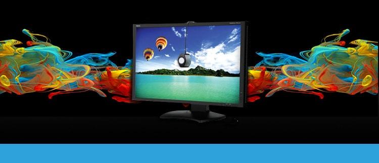 NEC PA242WBK-SV (PA-242WBKSV) Wide Color Gamut Desktop Monitor w/ SpectraView II