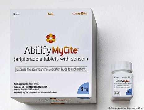 Abilify MyCite, a sequel to the antipsychotic drug Abilify is equipped with an embedded sensor