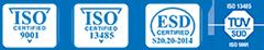 Ampronix ISO Verification Logos